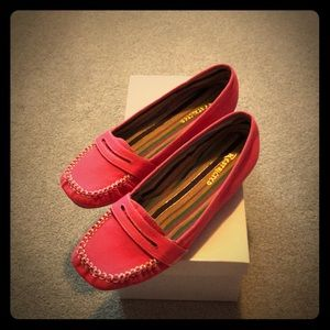Never worn pink moccassins